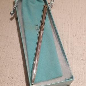 Tiffany sterling silver T clip ballpoint pen